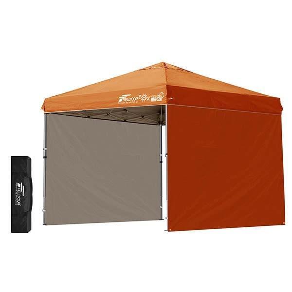 テント タープ タープテント 2.5m サイドフレーム強化版 ワンタッチ ワンタッチテント ワンタッチタープ 日よけ イベント サイドシート2枚 FIELDOOR 送料無料|maxshare|09