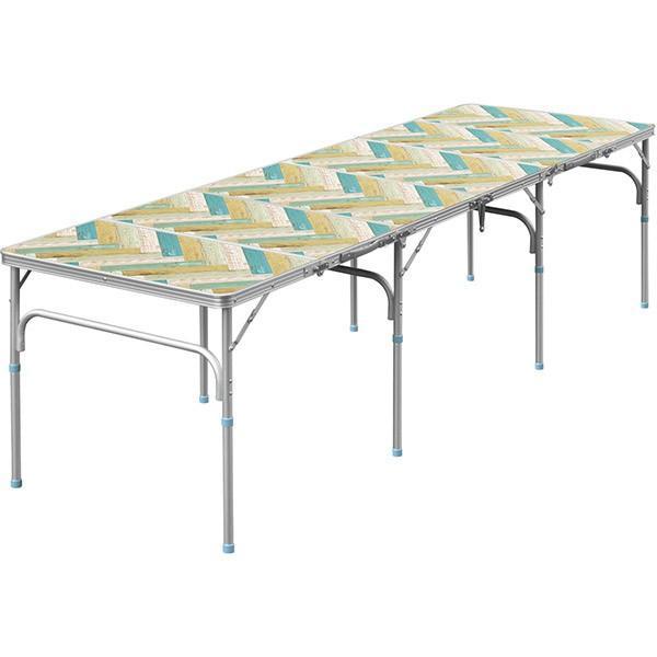 テーブル 折りたたみ アウトドア 折りたたみテーブル 六つ折り 収納式 アウトドアテーブル レジャーテーブル アルミ 製 高さ 調整 調節 送料無料|maxshare|10