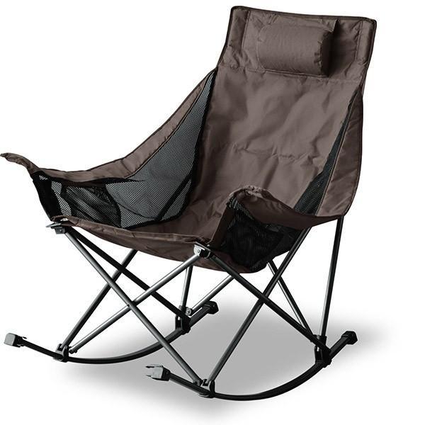 アウトドアチェア 折りたたみ ロッキングチェア 椅子 チェア コンパクトチェア ゆらゆら 揺れる リラックス キャンプ バーベキュー ベランダ FIELDOOR 送料無料|maxshare|06