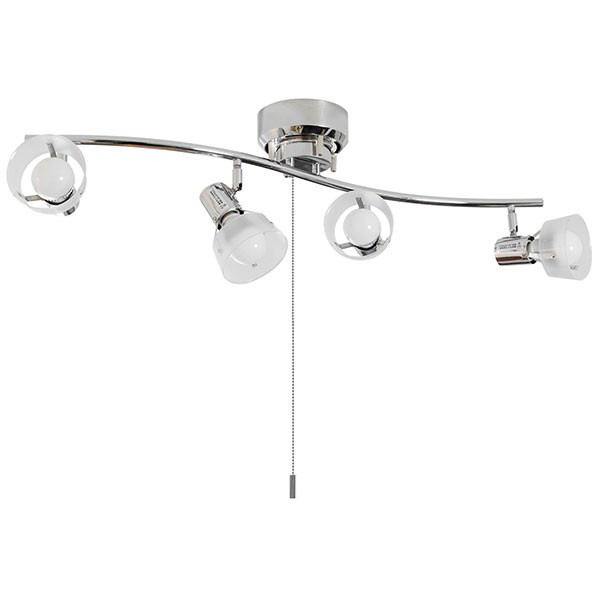 照明 シーリングライト 4灯 おしゃれ スポットライト 天井 プルスイッチ シーリング 4連スポットライト S字 LED対応 スポット木製 リビング 送料無料|maxshare|09