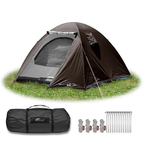 テント 4人用 ドームテント ドーム型 UVカット メッシュ フルクローズテント キャンプ アウトドア おしゃれ キャノピー 200x200 FIELDOOR 送料無料 maxshare 09