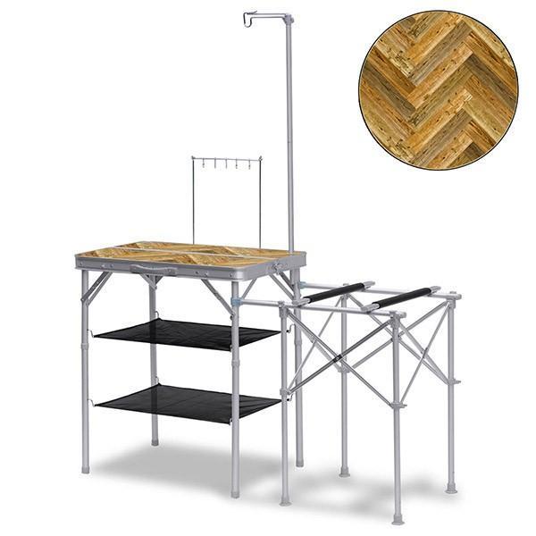 キッチンテーブル テーブル 折りたたみ アウトドア キッチン バーナースタンド キャンプ用 調理台 折りたたみテーブル 収納式 FIELDOOR 送料無料|maxshare|08