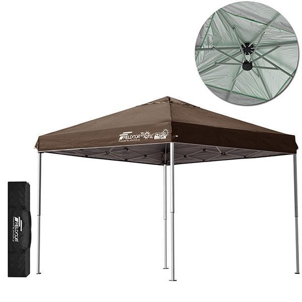テント タープ タープテント 2.5m サイドフレーム強化版 ワンタッチ ワンタッチテント ワンタッチタープ 日よけ イベント アウトドア FIELDOOR 送料無料 maxshare 10