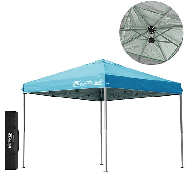 テント タープ タープテント 2.5m サイドフレーム強化版 ワンタッチ ワンタッチテント ワンタッチタープ 日よけ イベント アウトドア FIELDOOR 送料無料 maxshare 11