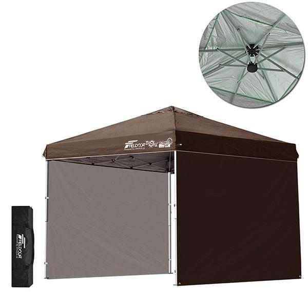 テント タープ タープテント 2.5m サイドフレーム強化版 ワンタッチ ワンタッチテント ワンタッチタープ 日よけ イベント サイドシート2枚 FIELDOOR 送料無料|maxshare|10