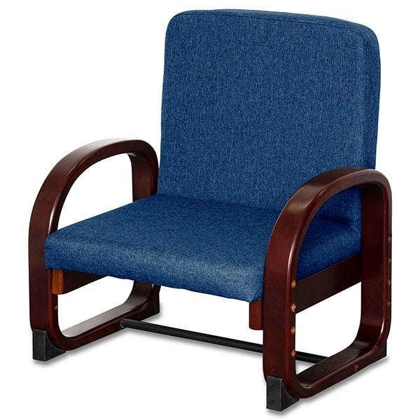 座椅子 高座椅子 完成品 肘付き 高さ調整 折りたたみ 椅子 肘掛 介護椅子 高齢者 介護 リビング チェア 業務用 肘掛け付 らくらく いす イス 送料無料 maxshare 07