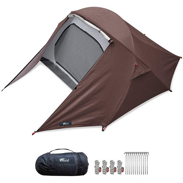 テント 2人用 ポールテント ドームテント クロスポールテント ドーム型 UVカット フルクローズテント 耐水圧 インナーテント キャノピー FIELDOOR 送料無料|maxshare|24