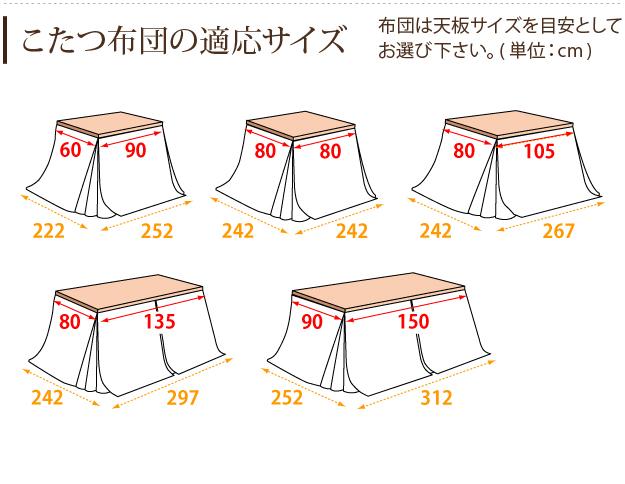 こたつ布団 正方形 はっ水リバーシブルダイニングこたつ布団 〔モルフダイニング〕 80x80cmこたつ用(242x242) 省スペース 21101602