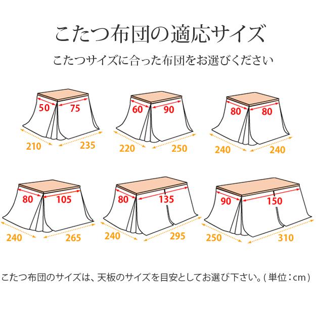 こたつ布団 正方形 ダイニングこたつ用掛布団 〔ブランチ〕 80x80cmこたつ用(240x240cm) 省スペース u0100001