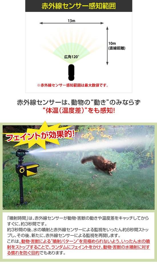 害獣の動きと温度を感知