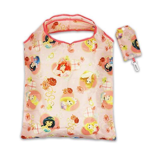ジュニア エコ バッグ ミニ ポーチ ミッキー キティ サンリオ プリンセス ディズニー 折りたたみ 軽い 買い物 //メール便発送可