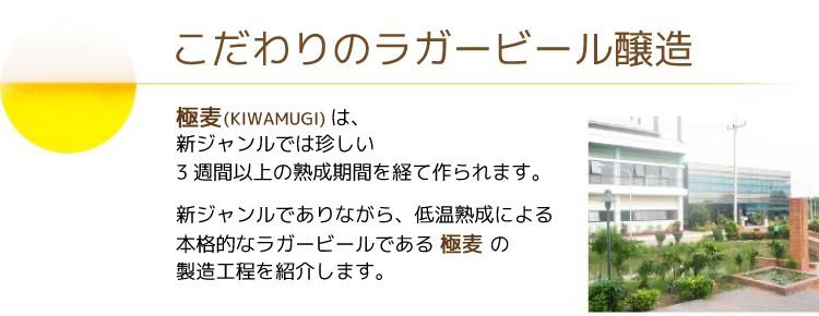 第三の新ジャンルビール 極麦(きわむぎ)kiwamugi製造過程
