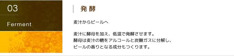 第三の新ジャンルビール 極麦(きわむぎ)kiwamugi製造過程-発酵