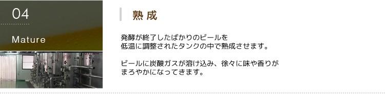 第三の新ジャンルビール 極麦(きわむぎ)kiwamugi製造過程-熟成