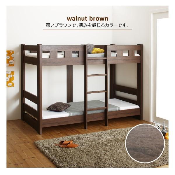ベッド 2段ベッド モダンデザイン天然木2段ベッド 薄型軽量ボンネルコイルマットレス付|mecha-kucha1|03