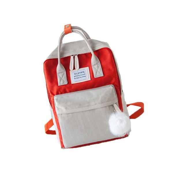 キッズリュック 子供 通園バッグ ミックスカラー 女の子 男の子 保育園バッグ リュックカバン 鞄 かばん 可愛い ファッション meet17 10