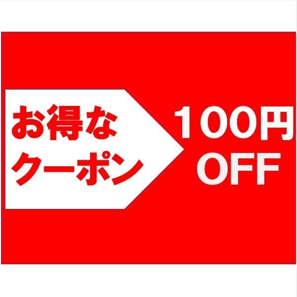 商品の合計金額より100円OFF