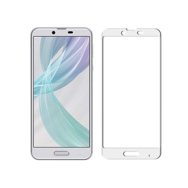 Android One X4 3D全面保護ガラスフィルム AQUOS Sense Plus SH-M07 曲面 強化ガラス保護フィルム Android One X4 剛柔ガラス AQUOS Sense Plus ソフトフレーム|meiseishop|20