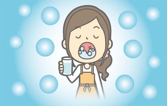 口の中の殺菌のイメージ