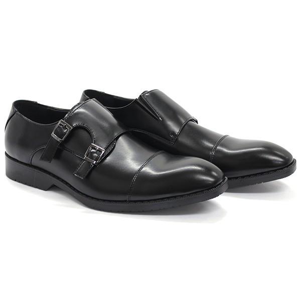ビジネスシューズ ダブルモンクストラップ ストレートチップ 通気底 革靴 メンズ 紳士靴 対象商品2足の購入で5000円(税別) mens-sanei 12