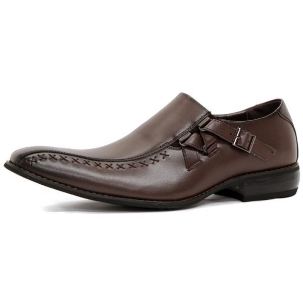 ビジネスシューズ 革靴 メンズ 日本製天然皮革 2足セット 対象商品2足の購入で8000円(税別) 外羽根 スワールモカ ダブルモンクストラップ スリッポン ローファー|mens-sanei|17