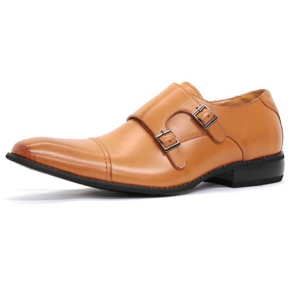 ビジネスシューズ 革靴 メンズ 日本製天然皮革 2足セット 対象商品2足の購入で8000円(税別) 外羽根 スワールモカ ダブルモンクストラップ スリッポン ローファー|mens-sanei|24