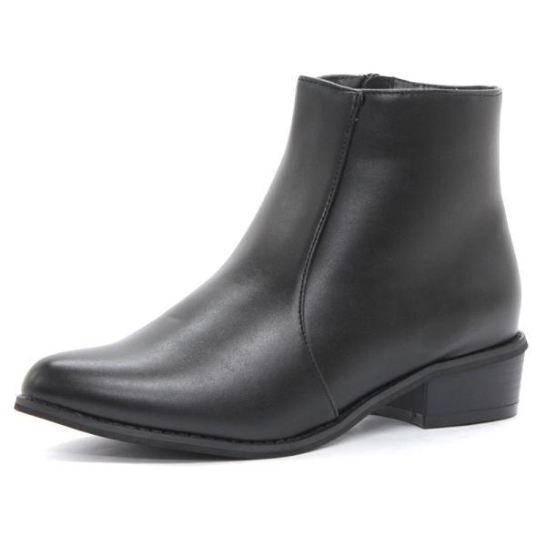 ショートブーツ サイドジップ レディース 履きやすい 3cmヒール ショート丈 対象商品2足の購入で4000円(税別)