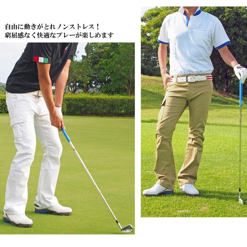 ゴルフウェア メンズ ゴルフパンツ ブーツカット ローライズ カーゴパンツ ストレッチパンツ ボトムス ゴルフウエア スポーツ 美脚 脚長 ズボン  bottoms,36,golf