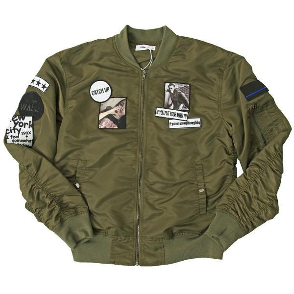 MA1 メンズ MA-1 ブルゾン ミリタリージャケット ワッペン付き ナイロンツイル フライトジャケット 秋冬 menscasual 17