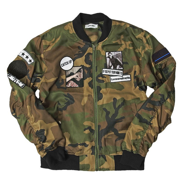 MA1 メンズ MA-1 ブルゾン ミリタリージャケット ワッペン付き ナイロンツイル フライトジャケット 秋冬 menscasual 19