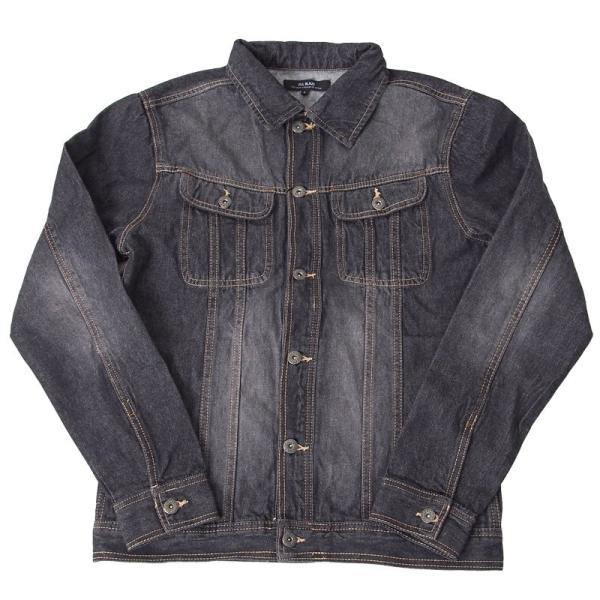 デニムジャケット メンズ Gジャン ジージャン ブルゾン ビンテージ加工 ユーズド加工 アウター|menscasual|16