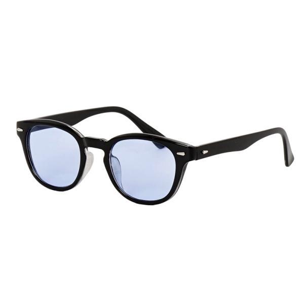 サングラス メンズ カラーレンズ 伊達メガネ 眼鏡 メガネ 伊達めがね 黒ぶち眼鏡 UVカット ウェリントン スモーク ライトカラー おしゃれ 人気 ブルー ブラック menscasual 19