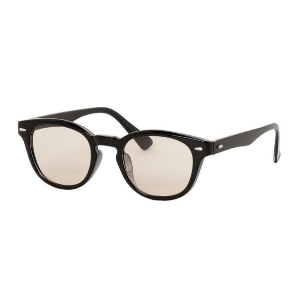 サングラス メンズ カラーレンズ 伊達メガネ 眼鏡 メガネ 伊達めがね 黒ぶち眼鏡 UVカット ウェリントン スモーク ライトカラー おしゃれ 人気 ブルー ブラック menscasual 20