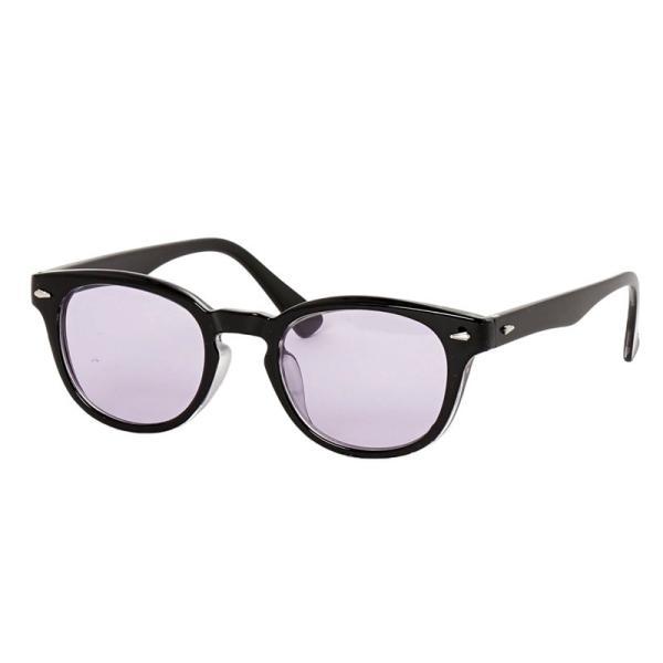 サングラス メンズ カラーレンズ 伊達メガネ 眼鏡 メガネ 伊達めがね 黒ぶち眼鏡 UVカット ウェリントン スモーク ライトカラー おしゃれ 人気 ブルー ブラック menscasual 21
