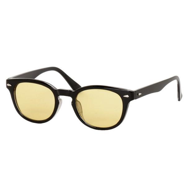 サングラス メンズ カラーレンズ 伊達メガネ 眼鏡 メガネ 伊達めがね 黒ぶち眼鏡 UVカット ウェリントン スモーク ライトカラー おしゃれ 人気 ブルー ブラック menscasual 23
