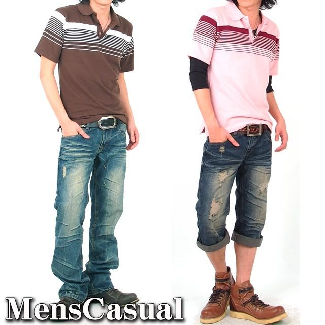 ポロシャツ,ボーダーポロシャツ,メンズ,メンズファッション,メンズカジュアル,通販,半袖ポロシャツ,Tシャツ,パネルボーダー,鹿の子ポロシャツ,POLO,25426