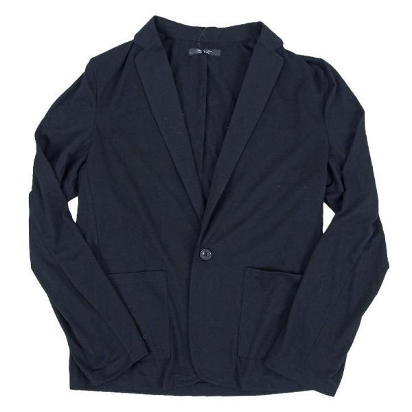 テーラードジャケット メンズ カーディガン 無地 長袖 カットソー 薄手 Tシャツ素材 グレー ブラック 黒 トップス|menscasual|13