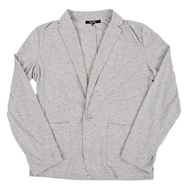 テーラードジャケット メンズ カーディガン 無地 長袖 カットソー 薄手 Tシャツ素材 グレー ブラック 黒 トップス|menscasual|14