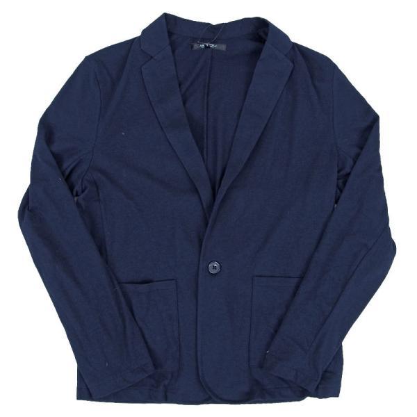 テーラードジャケット メンズ カーディガン 無地 長袖 カットソー 薄手 Tシャツ素材 グレー ブラック 黒 トップス|menscasual|15