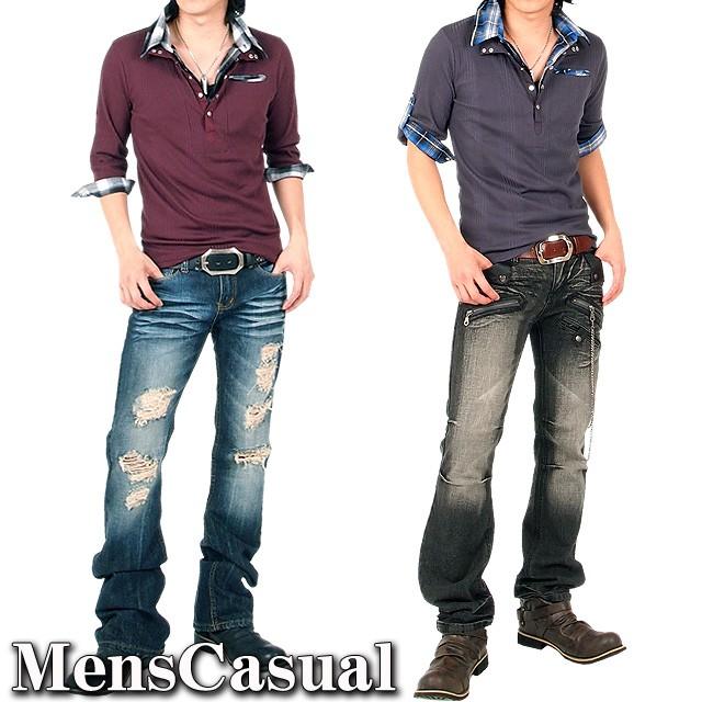 あすつく,メンズ,メンズファッション,メンズカジュアル,通販,キレイめ,きれいめ,2WAY,ロールアップ,襟ワイヤー,ランダムテレコ,チェックシャツ,ポロシャツ,7分袖,半袖,11C4015L