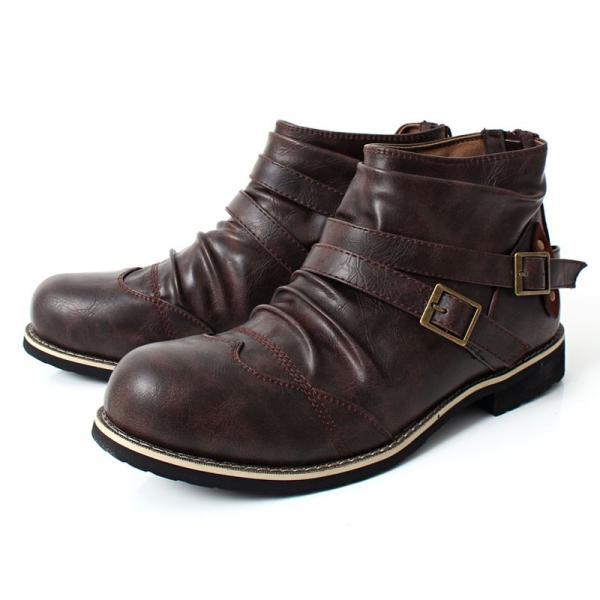 ブーツ メンズ メンズブーツ エンジニアブーツ ショートブーツ ワークブーツ ファスナー バックジップ 靴 シューズ 秋冬|menscasual|16