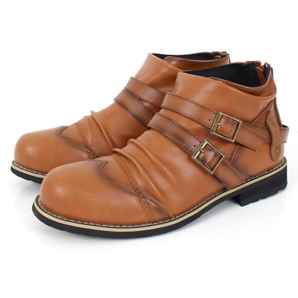 ブーツ メンズ メンズブーツ エンジニアブーツ ショートブーツ ワークブーツ ファスナー バックジップ 靴 シューズ 秋冬|menscasual|17
