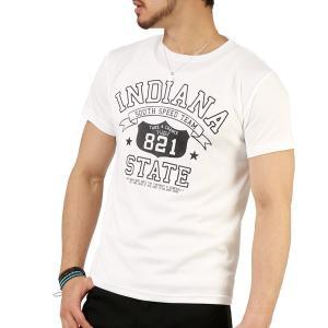 Tシャツ メンズ 吸汗速乾 ドライメッシュ素材 アメカジ Tシャツ カレッジ プリント TEE おしゃれ|mensfashion|33