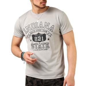Tシャツ メンズ 吸汗速乾 ドライメッシュ素材 アメカジ Tシャツ カレッジ プリント TEE おしゃれ|mensfashion|36