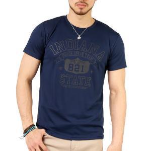 Tシャツ メンズ 吸汗速乾 ドライメッシュ素材 アメカジ Tシャツ カレッジ プリント TEE おしゃれ|mensfashion|35