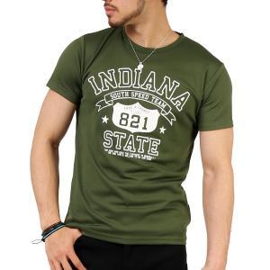 Tシャツ メンズ 吸汗速乾 ドライメッシュ素材 アメカジ Tシャツ カレッジ プリント TEE おしゃれ|mensfashion|34