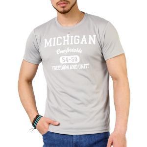 Tシャツ メンズ 吸汗速乾 ドライメッシュ素材 アメカジ Tシャツ カレッジ プリント TEE おしゃれ|mensfashion|21