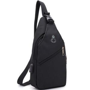 ボディバッグ メンズ レディース かばん USBポート搭載 ケーブル付 ミニバッグ 軽量 おでかけ おしゃれ|mensfashion|14