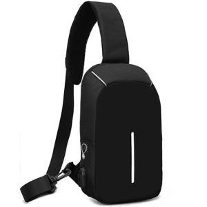 ボディバッグ メンズ レディース かばん USBポート搭載 ケーブル付 ミニバッグ 軽量 おでかけ おしゃれ|mensfashion|29