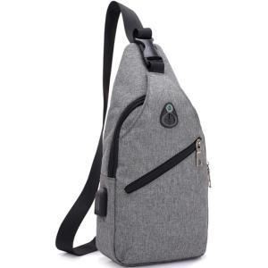 ボディバッグ メンズ レディース かばん USBポート搭載 ケーブル付 ミニバッグ 軽量 おでかけ おしゃれ|mensfashion|15